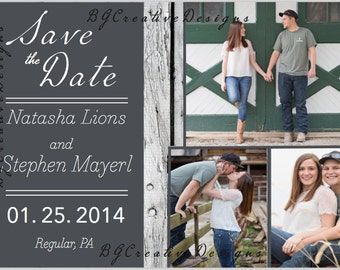 Country, Rustic, Wedding Save the Date Postcard