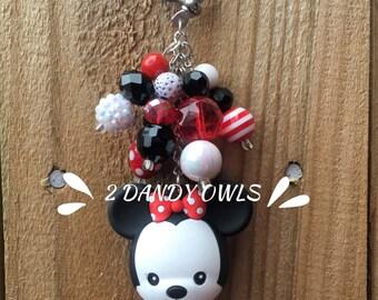 Minnie Mouse Purse Charm, Purse Jewelry, Bag Charm