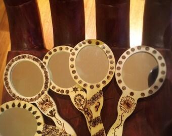 wood burning mirror