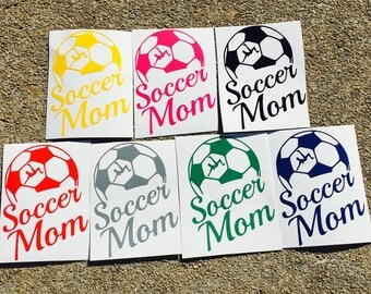 Soccer Mom Decal, Car Decal,Yeti Cup Decal, Soccer Mom Car Decal
