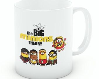 Big Minion Theory Mug, Big Bang Theory Minions Mashup Mug, Coffee Mug, Tea Cup (M058)