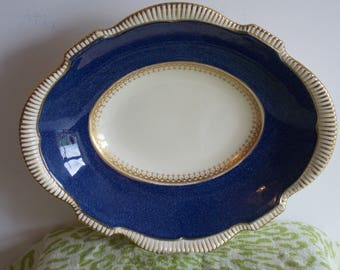 A Stunning Burleigh ware serving dish in Blue and gold.