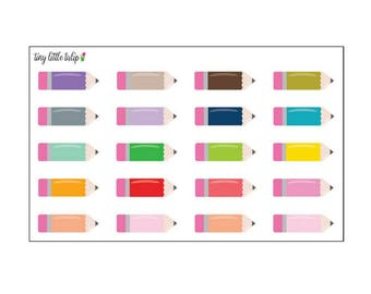 Planner Stickers Pencil Boxes