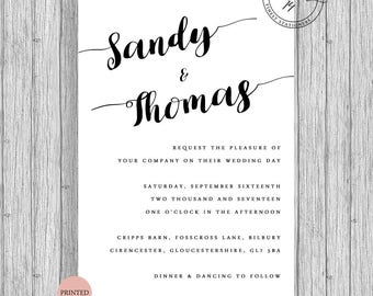 Wedding Invitation Rustic Vintage Modern 2017 A6