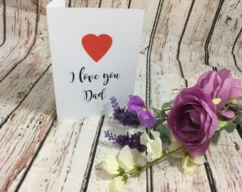 Dad birthday card, daddy birthday card, grandad birthday card, we love you Dad card, we love you Grandad card, we love you Daddy card
