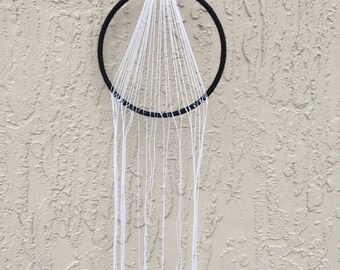Black and white dreamcatcher, dreamcatcher, triangle dreamcatcher