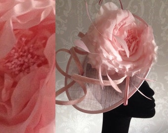 Pale Pink Sinamay Fascinator