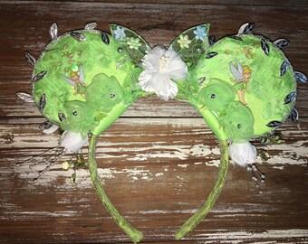 Tinkerbell Ears, Tinkerbell Inspired Ears, Tink Ears, Fairy Ears, Glow in the Dark, Mickey Inspired Ears, Disney Inspired Ears, Mouse Ears