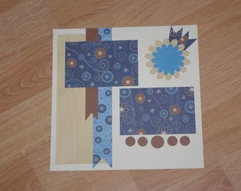 Serendipity 12x12 scrapbook page