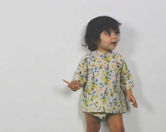 flowered blouse in organic cotton