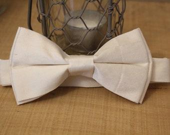 Gentleman's Bow tie (Ivory Taffeta)