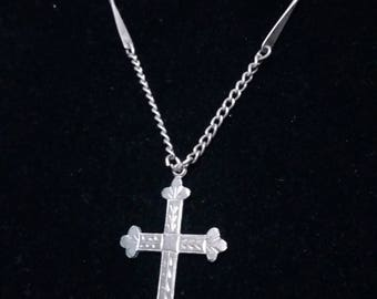 Cross sterling vintage pendant