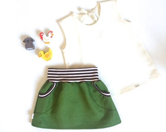 Linen Skirt for little girls
