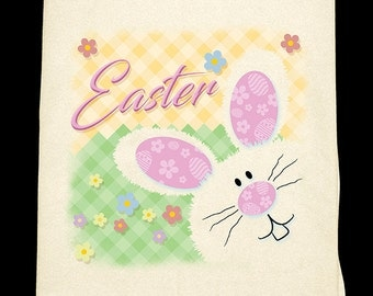 Easter Bunny Flour sack towel