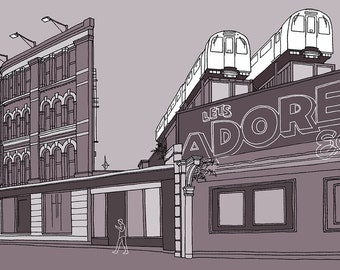 Adore Shoreditch, London - Signed Limited Edition Art Print