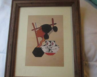 Bergess Roye, native american artwork,print south western art