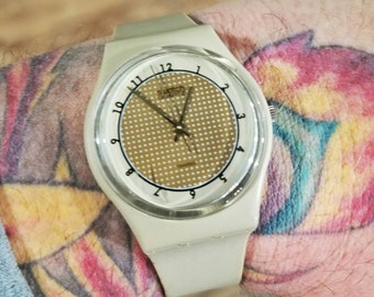 Swatch Watch - A Perfect Gift for Him or Gift for Her! - Original 7 Hole Swatch - Vintage Swatch -