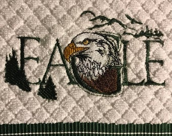 Eagle kitchen towel. Set of 2.