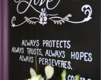 Chalkboard sign - Wedding Weclome - Bar - Menu - Showers - Baby Annoucements **Deposit only ** See pricing below