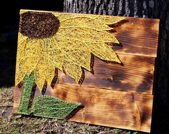 Sunflower String Art 24x16.5