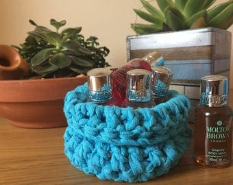 DISCOUNTED Handmade Crochet Slouchy Bowl, Basket, Storage Container