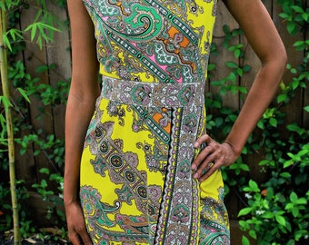 Psychedelic Print Dress