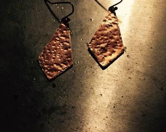 Metal design earrings