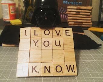 Star Wars Scrabble Coasters