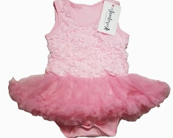 Rose Baby Girl Tutu Onesie Bodysuits Pink Infant and Toddler