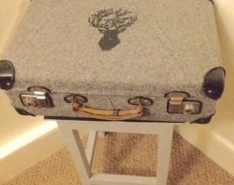 original converted vintage globetrotter case / table