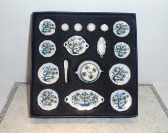 Miniature porcelain service for dining room in the dollhouse in 1:12 Scale