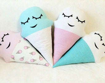 Ice-cream,ice cream,pillow,gift for, kid's room,nursery,decor,food pillow,for kids,baby,sweets