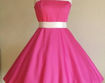 Rockabilly 50s prom dress registry prom dress in pink/white