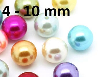 Beads, beads, beads, colorful mixed, 4 mm, 6 mm, 8 mm 10 mm