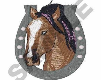 Horse And Horseshoe - Machine Embroidery Design