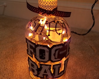 Personalized boys lighted bottle