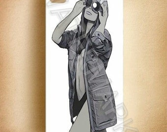 Girl in CP company coat / jacket  Phone Case / Cover . iphone . samsung . mobile