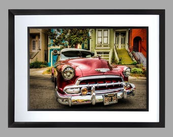 50s American Car . Print . Art . Poster . muscle cars 60s sports cars