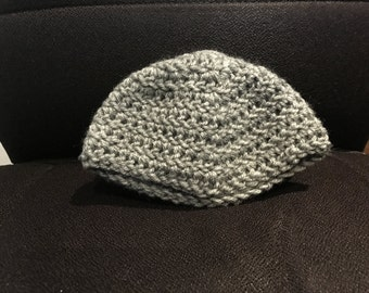 Grey Crochet Baby Hat