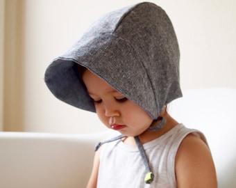 Baby bonnet, Baby sun hat, Linen & Cotton, Toddler Sun Hat