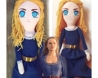 Westworld Dolores Doll, Handmade Fabric Art Doll, Perfect for collectionist or Westworld fans!