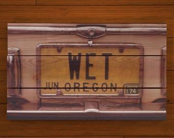 Oregon Wet - Custom Pallet Picture