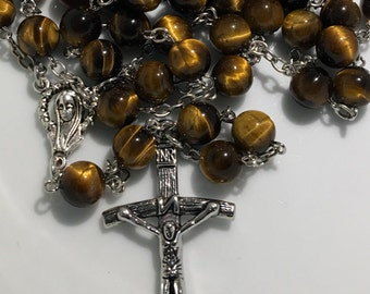 Tiger Eye Stone Rosary