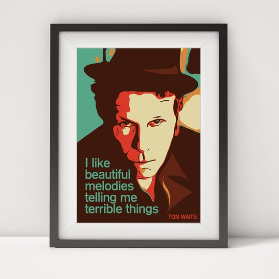 Tom waits tom waits print tom waits poster tom waits art like this item stopboris Image collections