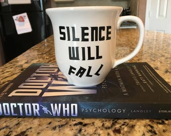 Doctor Who Silence Will Fall Coffee Cup