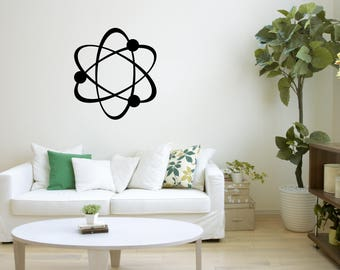 Wall Art Decal, Atom Wall Art, Chemistry Wall Decal, Kids Room Decor,