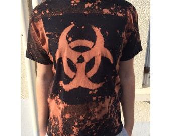 RADIOACTIVE diy punk t-shirt tie dye