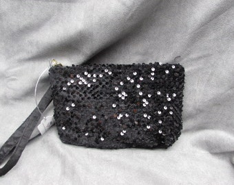 Evening Clutch in Black Sequins