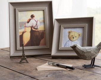 New Taupe Grey Photo Frame Shabby Chic 6x4  7x5  8x6  10x8 Vintage stone colour