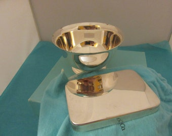 TIFFANY & CO sterling silver  Paul-revire.  .bowl and bar